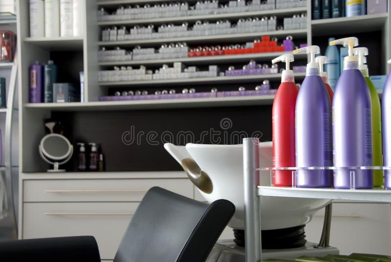 Salone di lavoro di parrucchiere fotografia stock libera da diritti