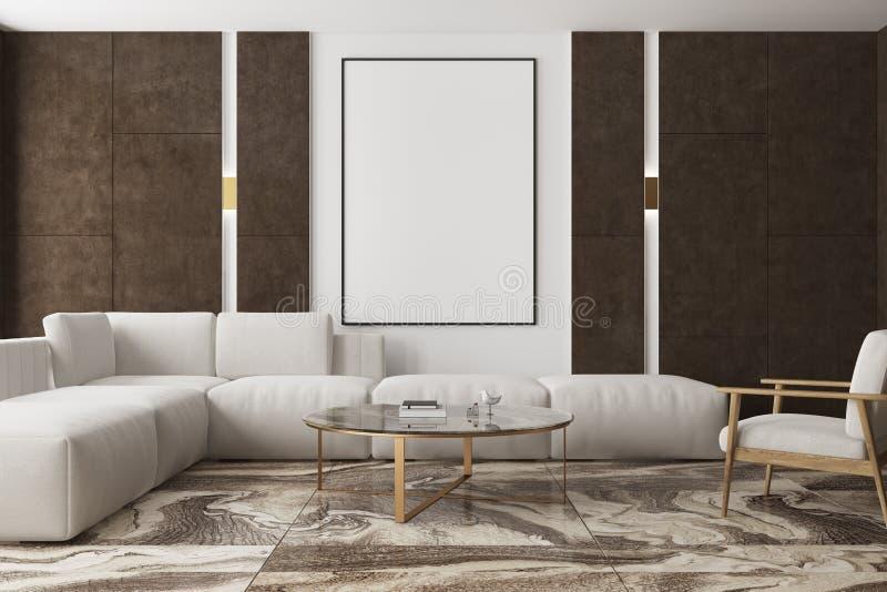 Salone di marmo e marrone, manifesto royalty illustrazione gratis