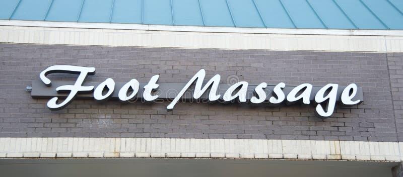 Salone di massaggio del piede fotografia stock libera da diritti