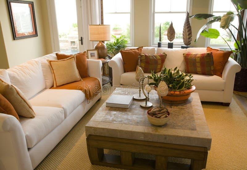 Salone domestico di lusso. fotografie stock libere da diritti