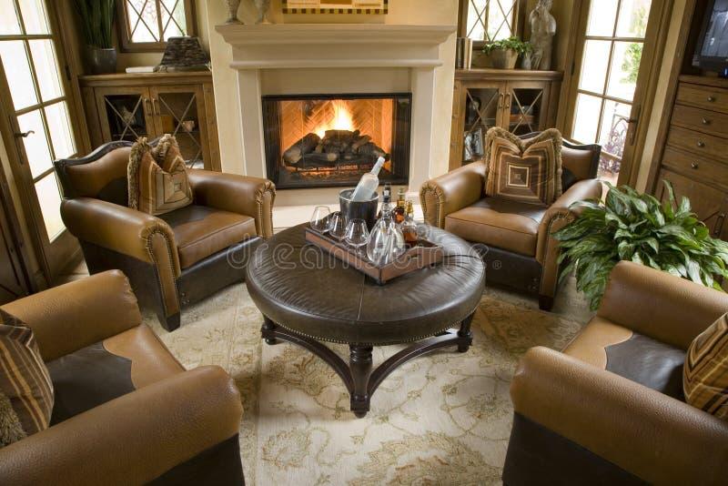 Salone domestico di lusso. fotografia stock