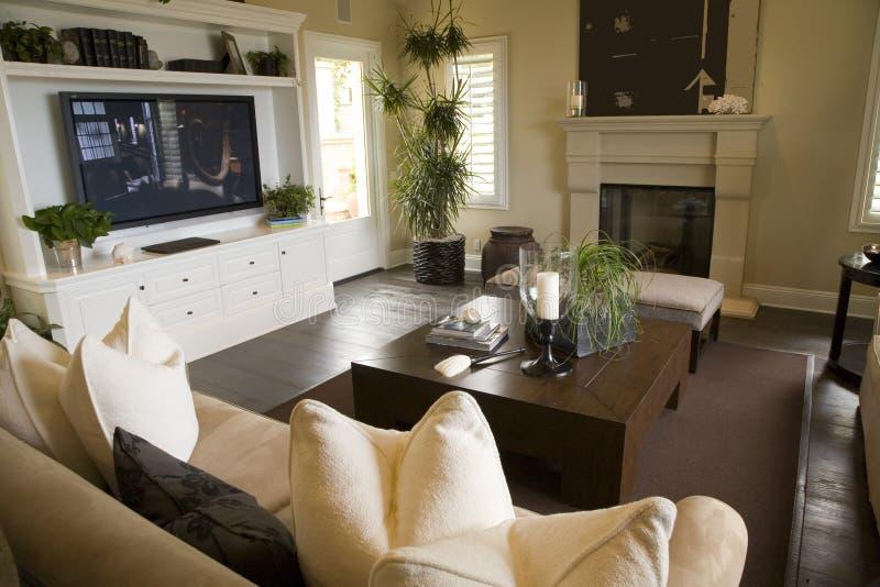 Salone domestico di lusso. immagine stock libera da diritti