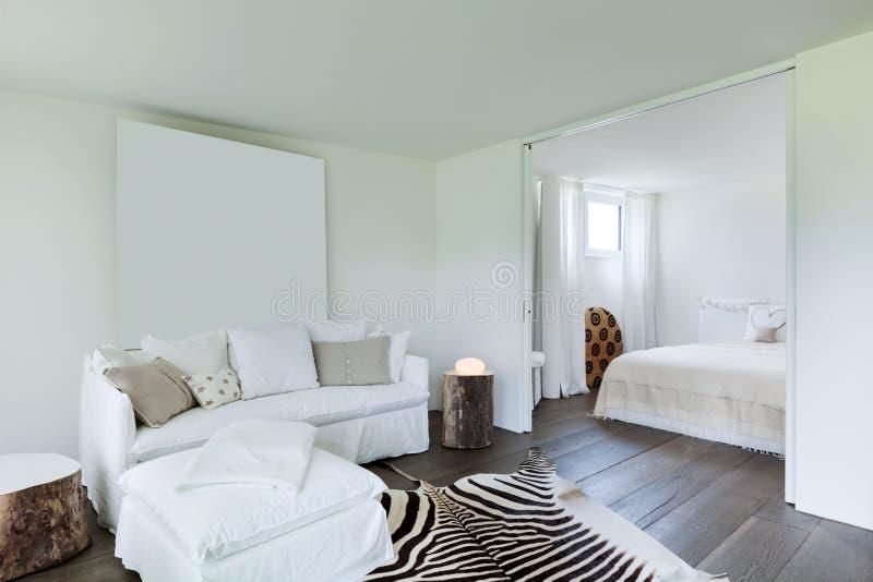 Salone e camera da letto immagine stock libera da diritti