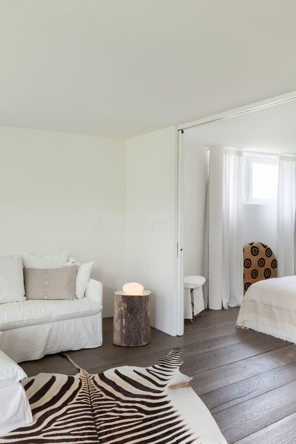 Salone e camera da letto immagini stock libere da diritti