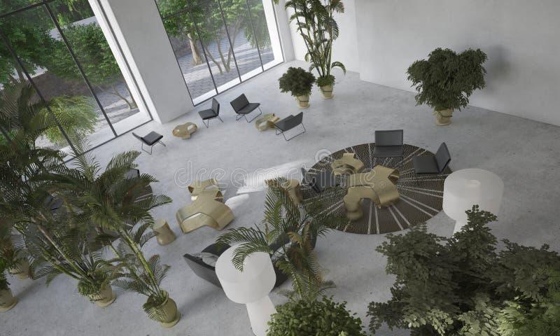 Download Salone Minimalista Moderno Del Progettista Immagine Stock - Immagine di nessuno, interno: 56892365