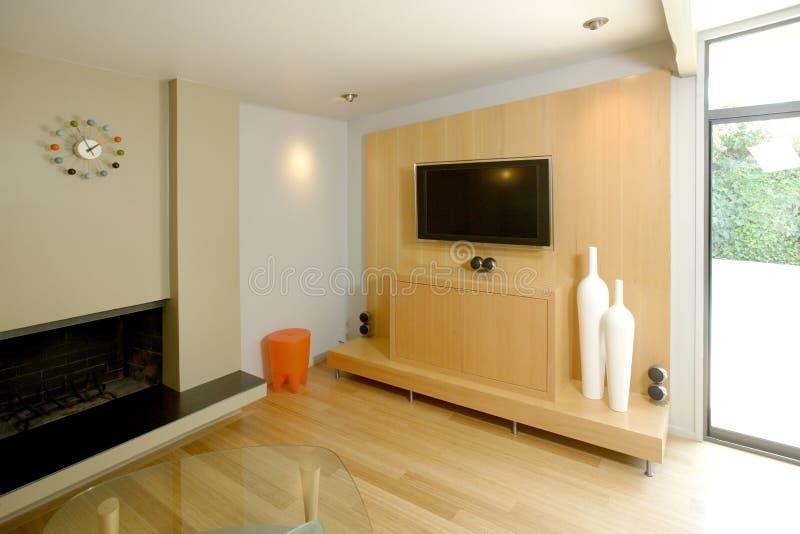 Salone moderno immagine stock immagine di scuro for Salone moderno