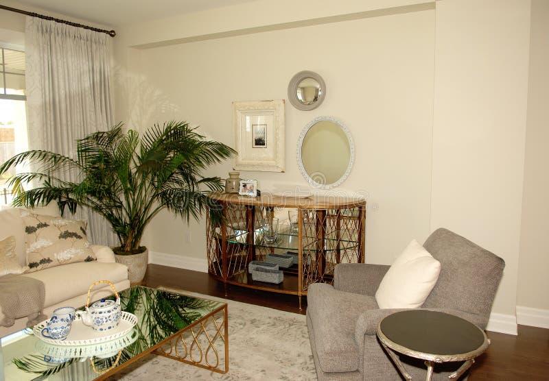 Salone piacevole in una nuova casa fotografia stock libera da diritti