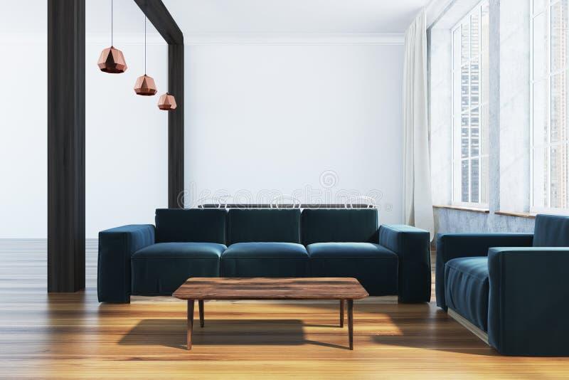 Salone scandinavo di lusso di stile illustrazione vettoriale