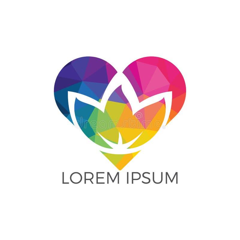 Salong för wellness för Spa logolotusblomma och affärsbrunnsortlogo stock illustrationer
