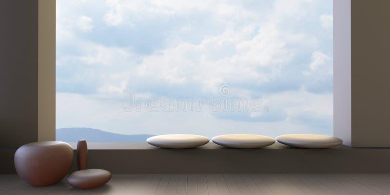 Saloni moderni e finestra sulla vista del cielo della for Immagini saloni moderni