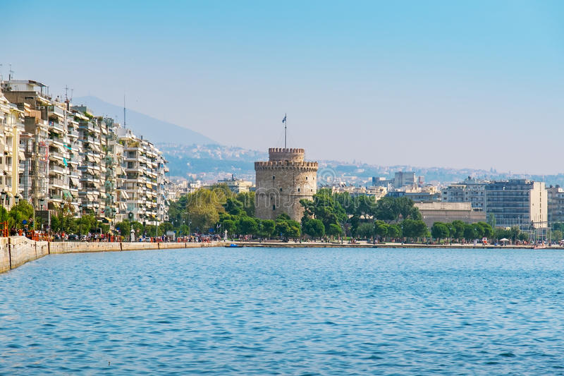 Saloniki nadbrzeże Macedonia, Grecja obraz royalty free