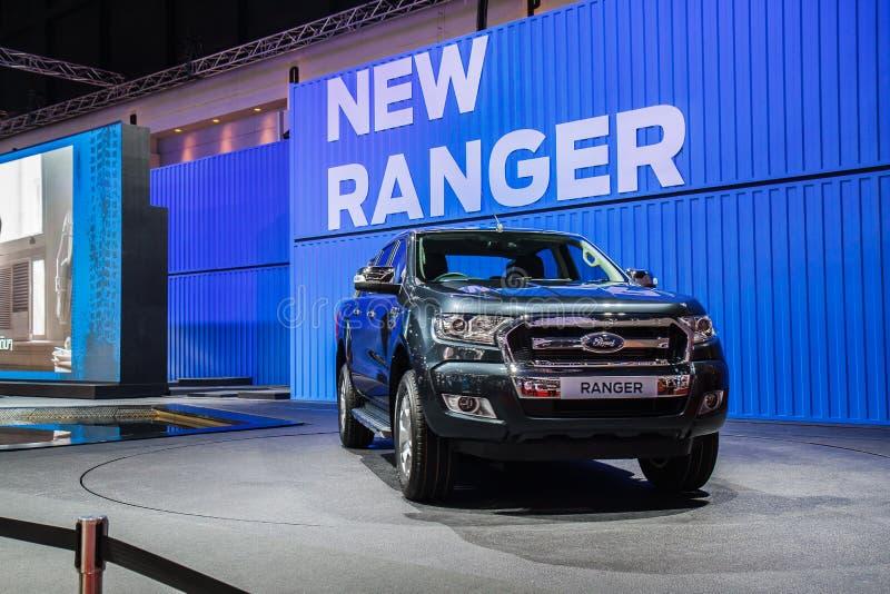 Salons automobiles de Ford Ranger images stock
