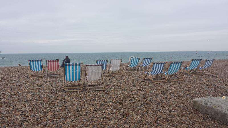 Salons en plage de Brighton photo libre de droits
