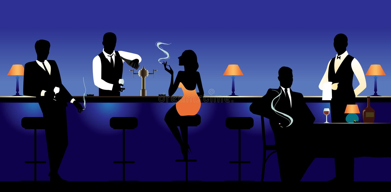 Saloon stock illustration