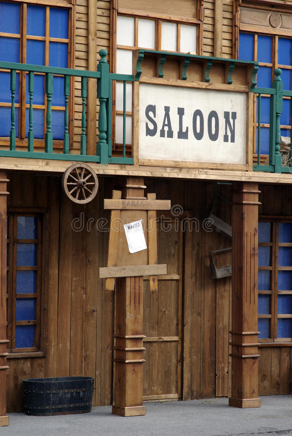 Saloon. Old western style bar saloon royalty free stock image