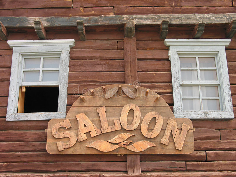 Saloon. A saloon in de dessert of spain royalty free stock images