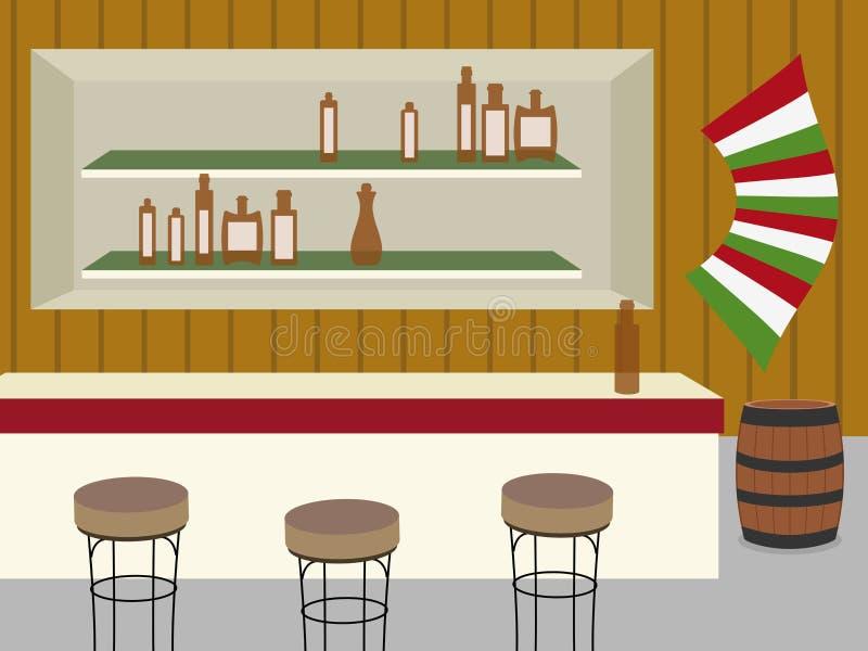 Saloon vector illustration