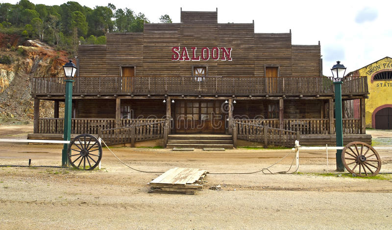 Saloon. A background saloon far west royalty free stock photos