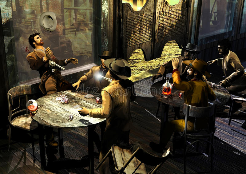 Download Saloon Gunfight Stock Photos - Image: 24993153