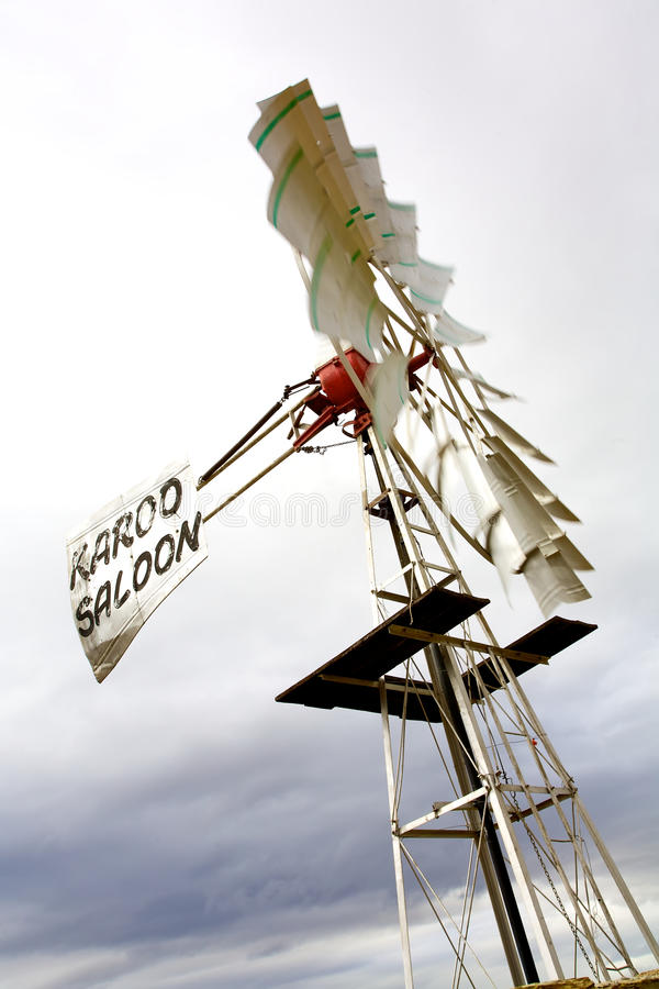 Saloon windmill stock image