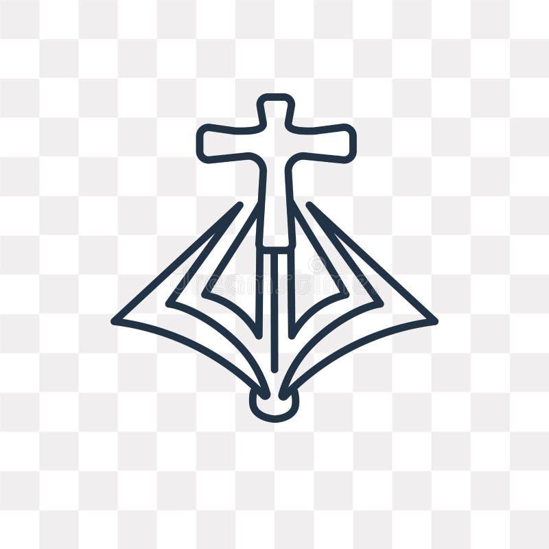 Salopy wektorowa ikona odizolowywająca na przejrzystym tle, liniowy Ma ilustracja wektor