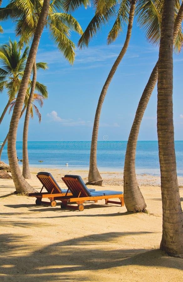 Salotti della spiaggia immagini stock libere da diritti