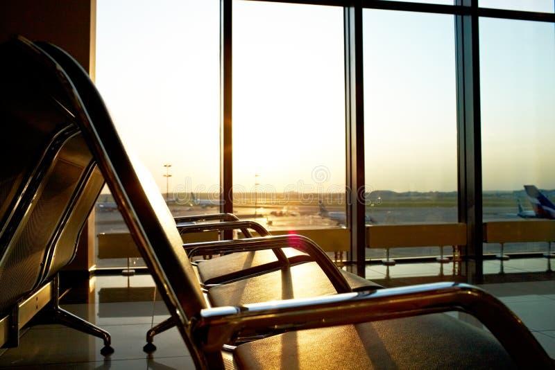 Salotto dell'aeroporto immagini stock