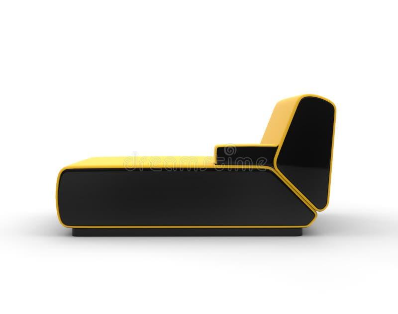 Salotto giallo moderno isolato su fondo bianco immagine stock libera da diritti