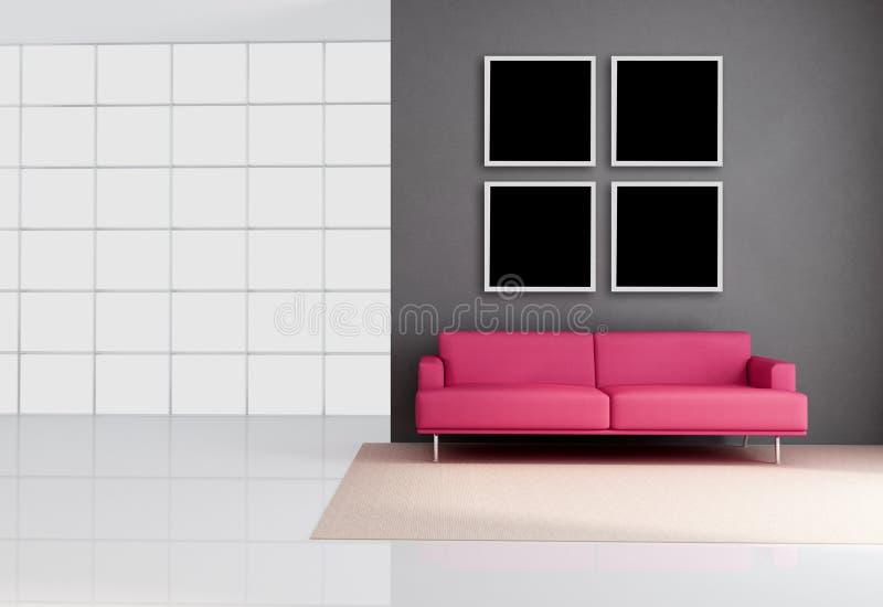 Salotto minimalista royalty illustrazione gratis