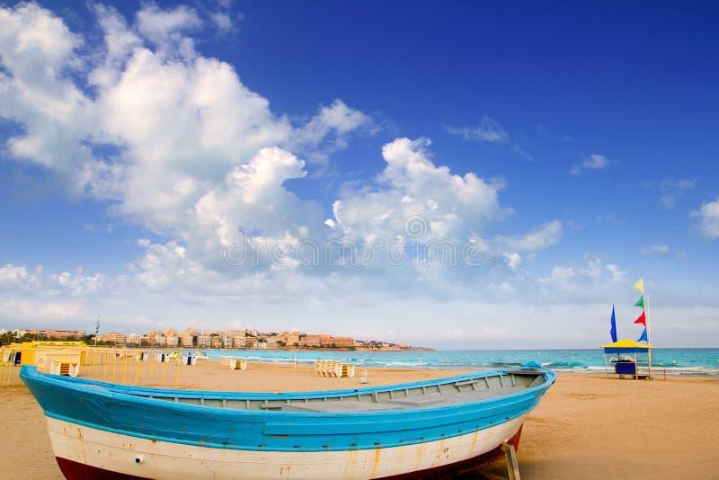 Salou海滩在塔拉贡纳卡塔龙尼亚西班牙 库存图片