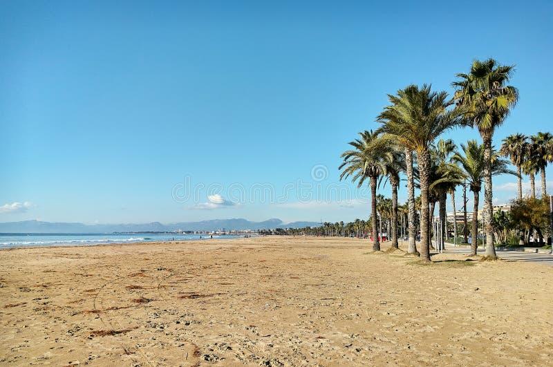Salou παραλία στοκ εικόνα με δικαίωμα ελεύθερης χρήσης