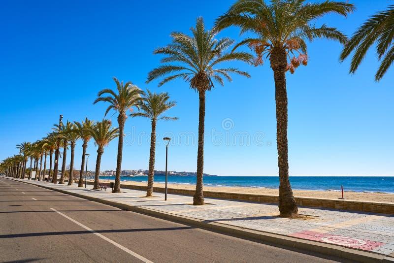 Salou beach Ponent Poniente in Tarragona. Salou beach Ponent Poniente platja in Tarragona of Catalonia stock photo