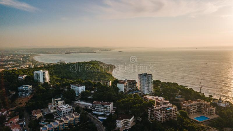 Salou, Costa Dorada beach - Travel destination in Spain royalty free stock photography