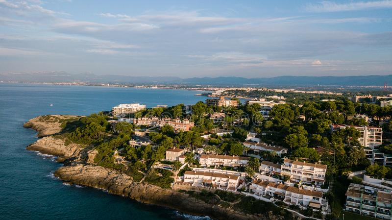 Salou, Costa Dorada beach. Hotels and resorts. Travel destination in Spain stock image
