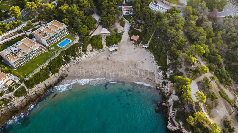 Salou, Costa Dorada beach. Hotels and resorts. Travel destination in Spain stock photography