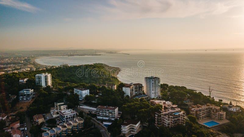 Salou, Costa Dorada-Strand - Reiseziel in Spanien lizenzfreie stockfotografie
