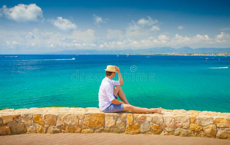 Salou-Erholungsort Costa dorada Küstenlinie stockbilder