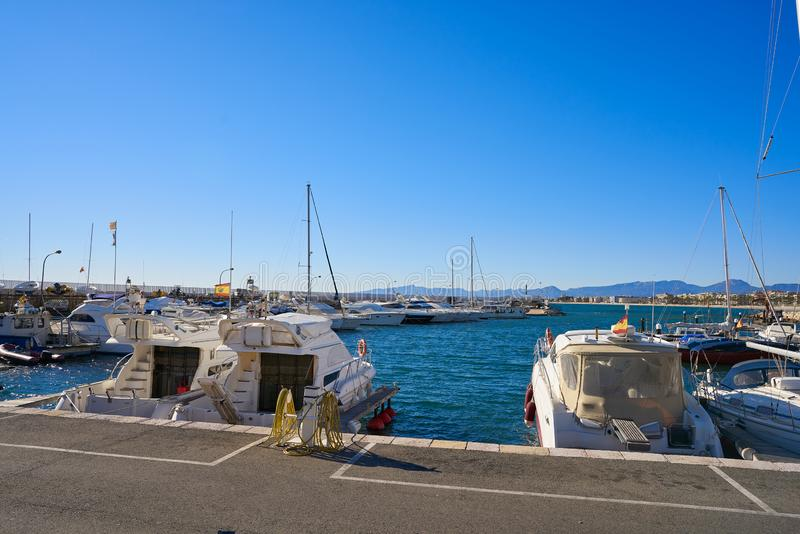 Salou Port marina in Tarragona of Catalonia stock photo