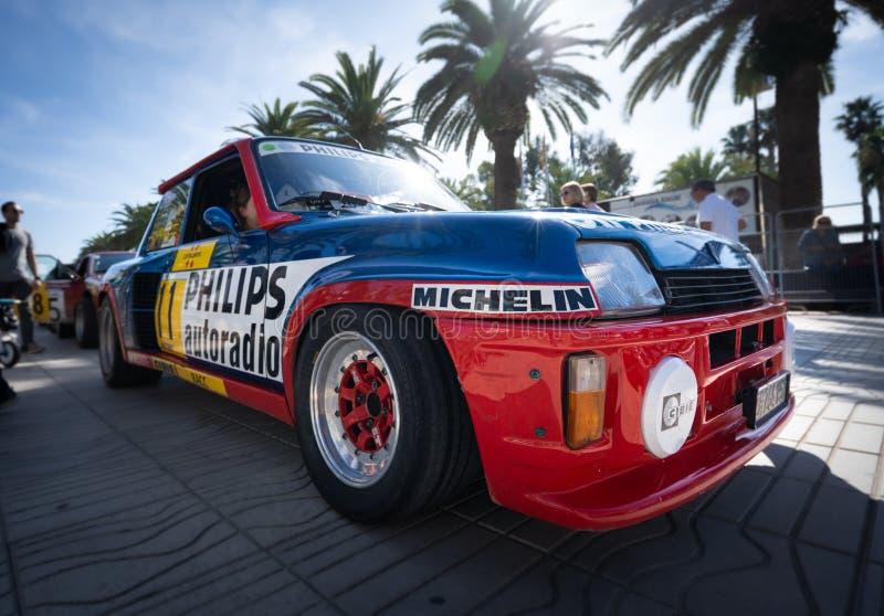 Salou, Spain. October 2019: Historic cars in the Rally costa daurada stock photos