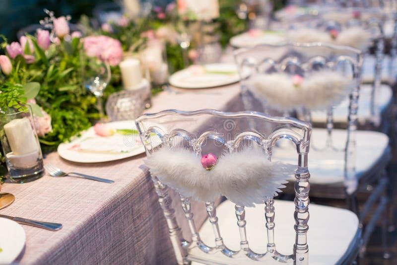 Salowa ślubna scena zdjęcia royalty free