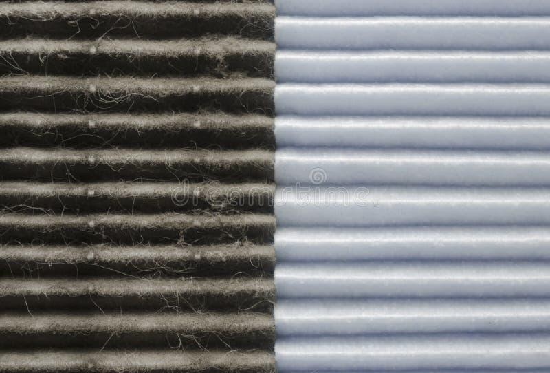 Salowa jakość powietrza, dwa filtrów porównanie obrazy royalty free