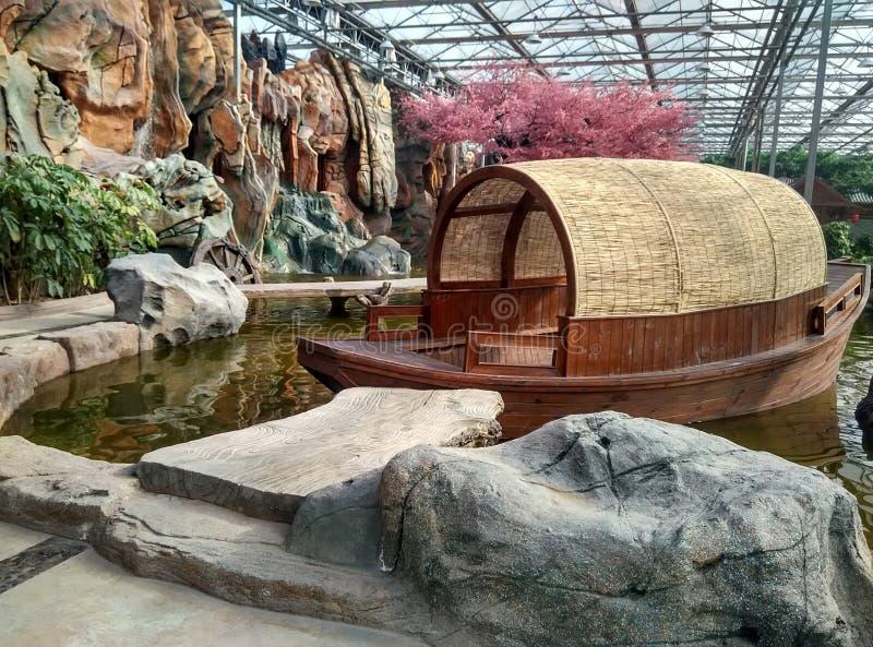 Salowego ogródu krajobraz zdjęcia royalty free