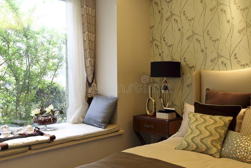 Salowy i plenerowy sypialnia zdjęcia royalty free