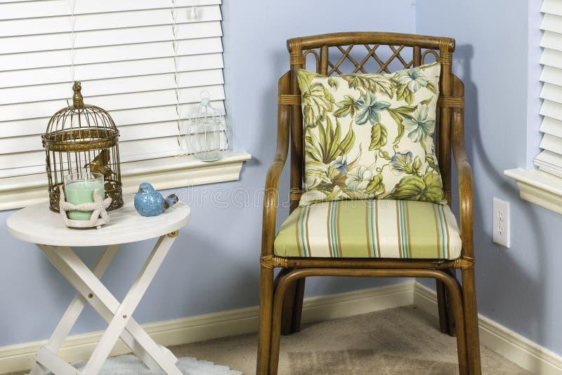 Salowy Plażowy krzesło fotografia stock