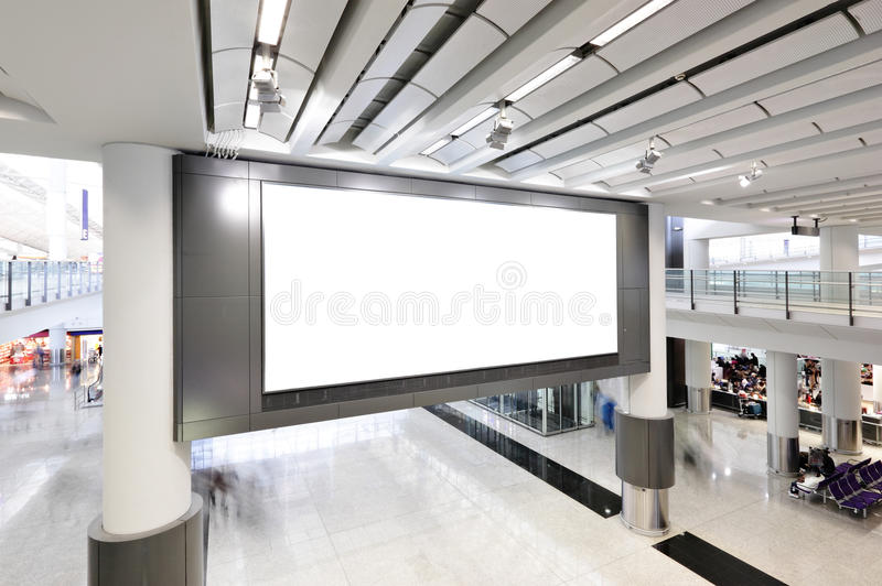 Salowy pusty billboard fotografia stock