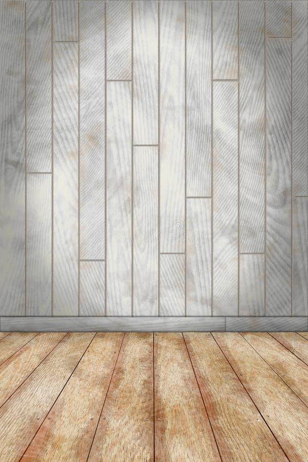 Salowy tło z barwionym ściany i kamienia podłogowym drewnianym planem ilustracja wektor