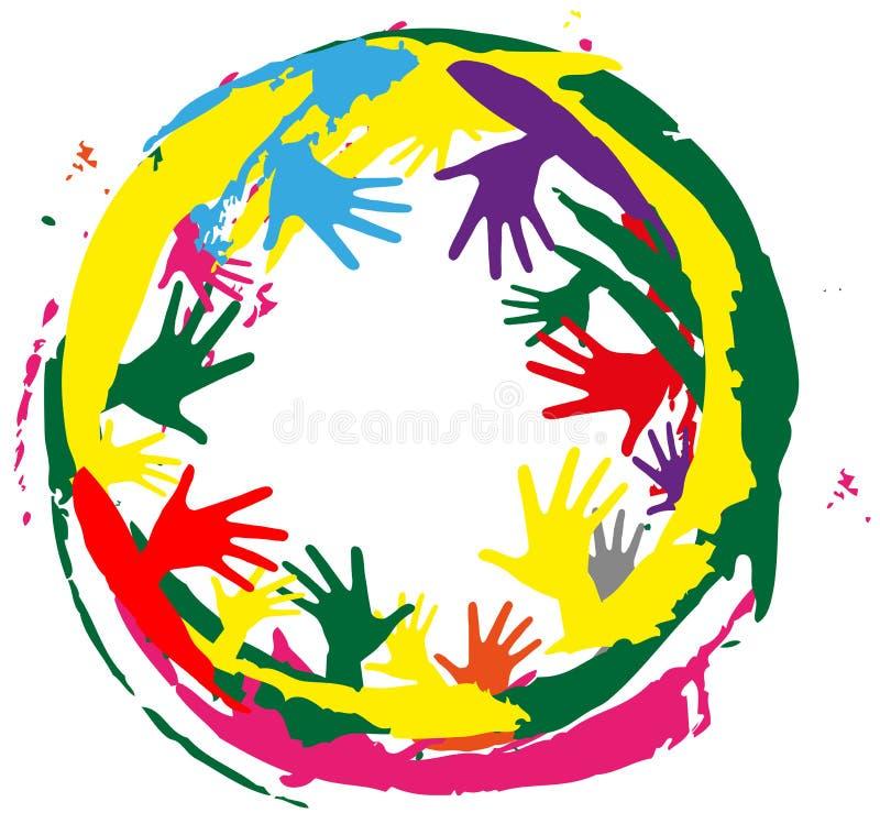 Salpica de color y de manos libre illustration