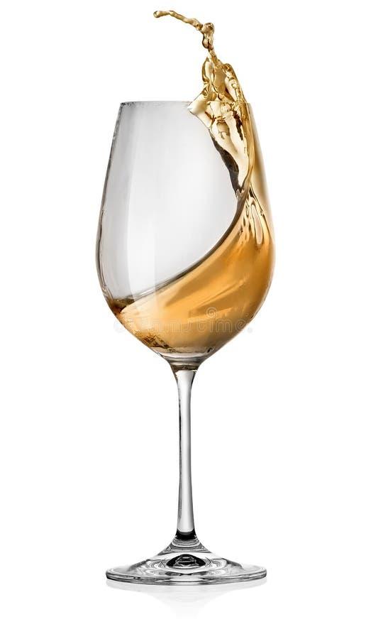 Salpica del vino blanco fotos de archivo libres de regalías