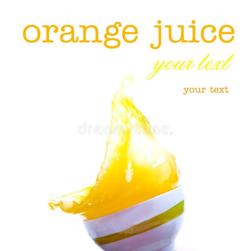 Salpica del zumo de naranja imagen de archivo
