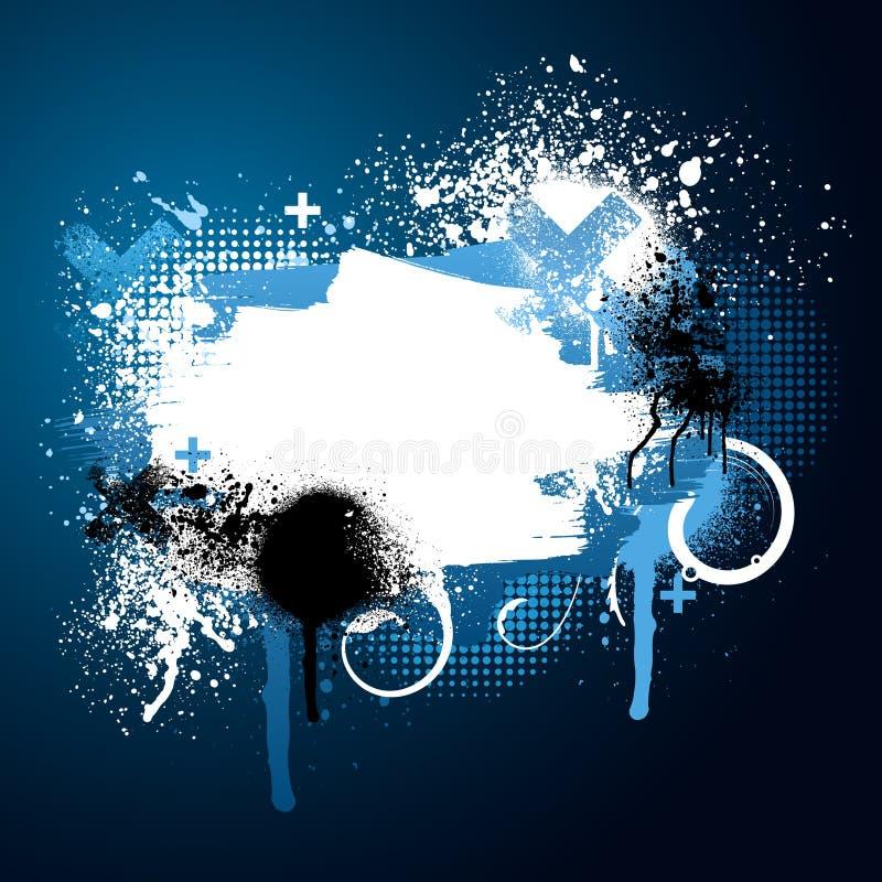 Salpicadura azul de la pintura ilustración del vector